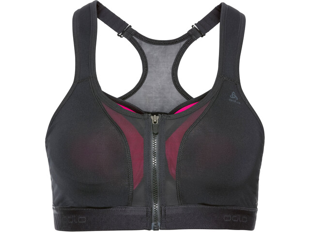 Odlo Double High Sport BH Dames, black/beetroot purple